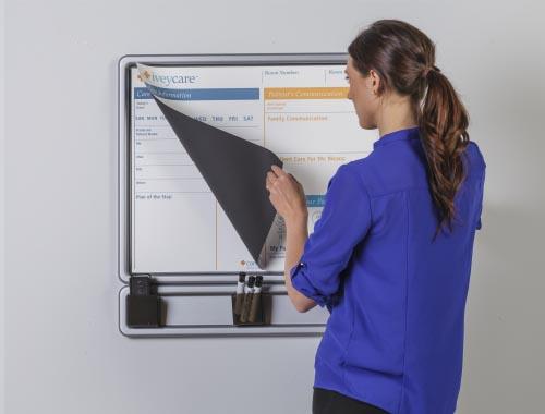 communication board magnetic peel