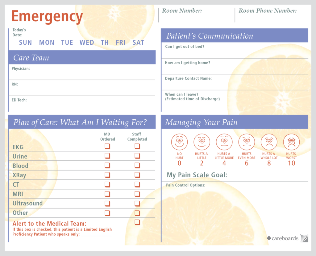 er emergency room communication board 3