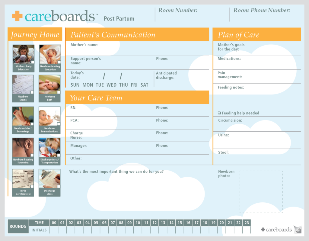 labor & delivery patient communication board 1