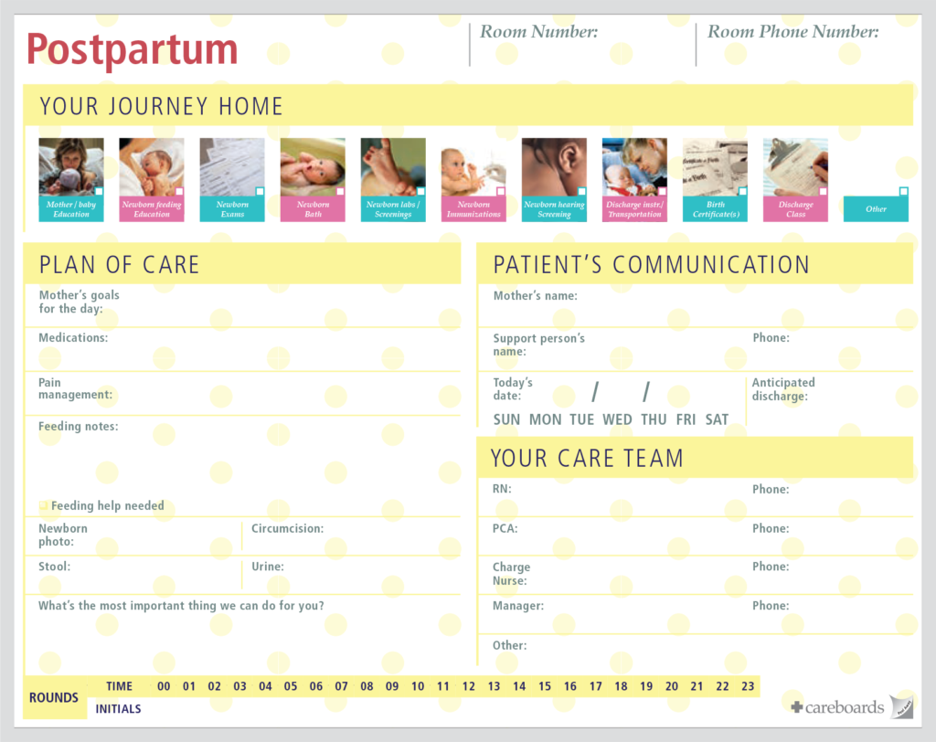 labor & delivery patient communication board 2