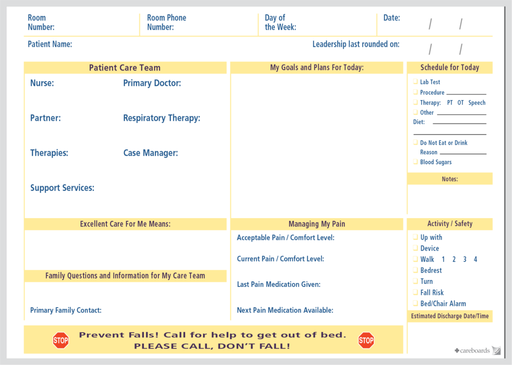 Patient Room Communication Boards