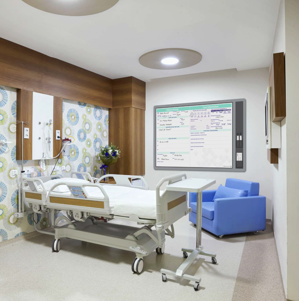 patient room communication whiteboards