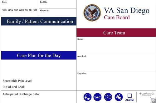 veterans care communication board graphic